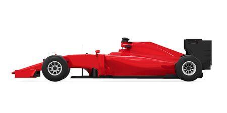 Formula One Race Car Isolated Stock Photo