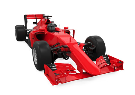 Formula One Race Car Isolated 스톡 콘텐츠