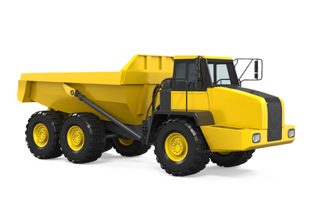 hauler: Articulated Dump Truck Isolated