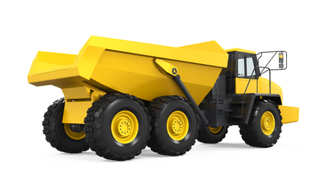 sand quarry: Articulated Dump Truck Isolated