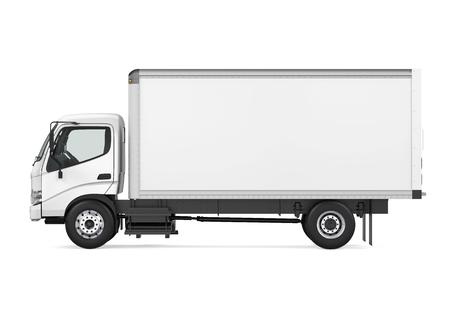 Camion de transport de marchandises isolé