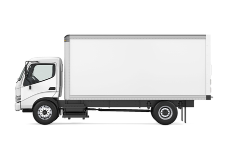 Cargo Delivery Truck Isolated Stock Photo