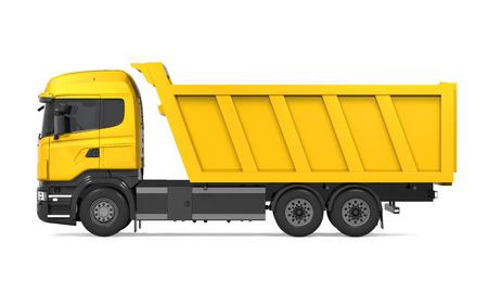 Camion à benne basculante isolé Banque d'images