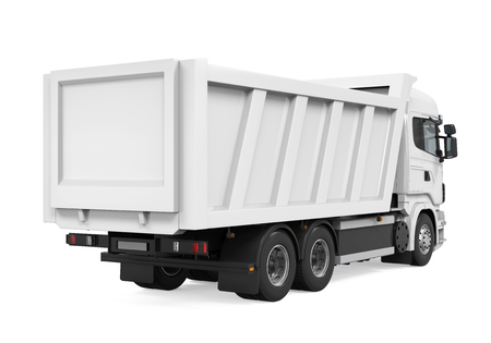 haul: Tipper Dump Truck Isolated Stock Photo