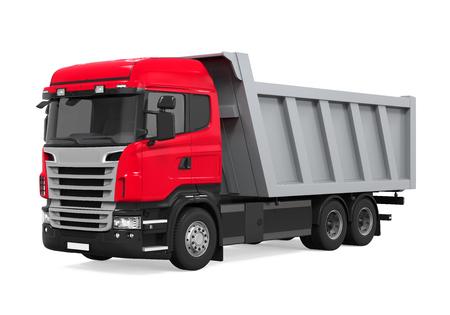 Volquete camión volquete aislado Foto de archivo