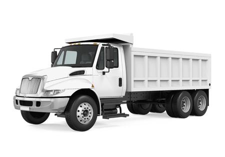 Camion à benne basculante isolé