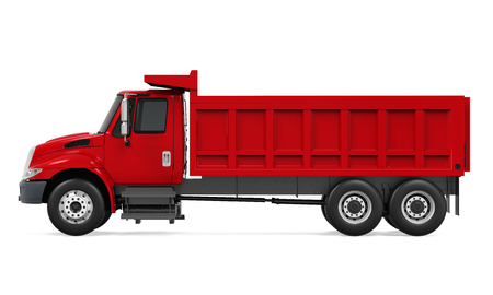 Tipper Dump Truck Isolated Stok Fotoğraf