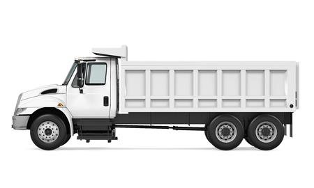 Camion à benne basculante isolé Banque d'images - 81776970