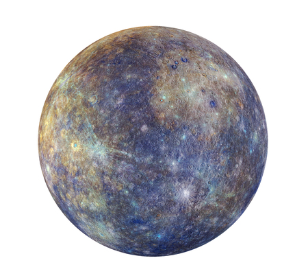observation: Planet Mercury Isolated Stock Photo