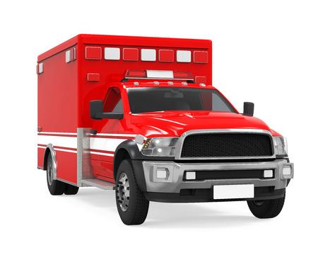 Ziekenwagen Emergency Fire Truck Isolated