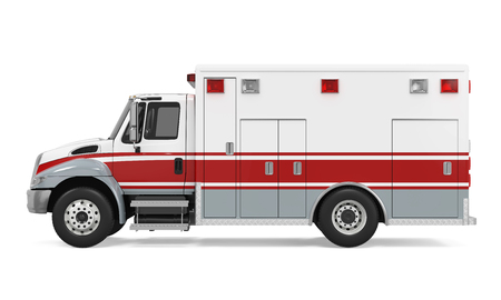 fireman: Ambulance Emergency Fire Truck Isolated