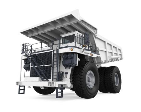 White Mining Truck Isolated Imagens