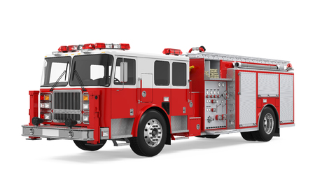 Fire Rescue Truck Isolated Stockfoto