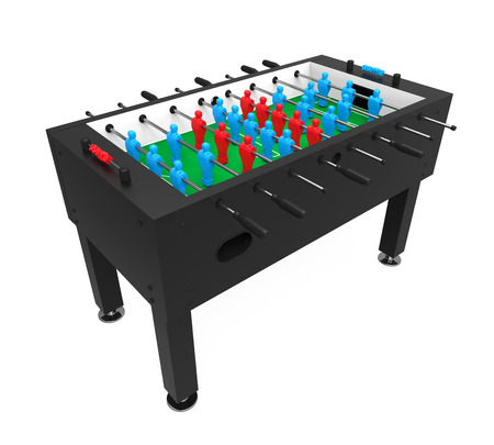Foosball Soccer Table Game Isolated Stock Photo