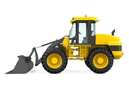 loader: Wheel Loader Bulldozer Isolated