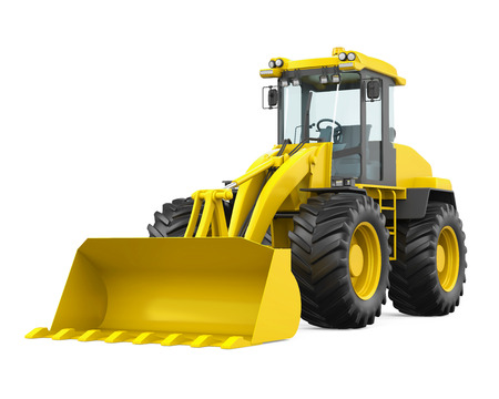 Wheel Loader Bulldozer Isolated