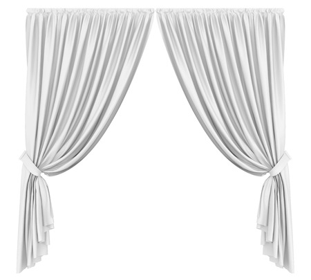 Curtains Isolated
