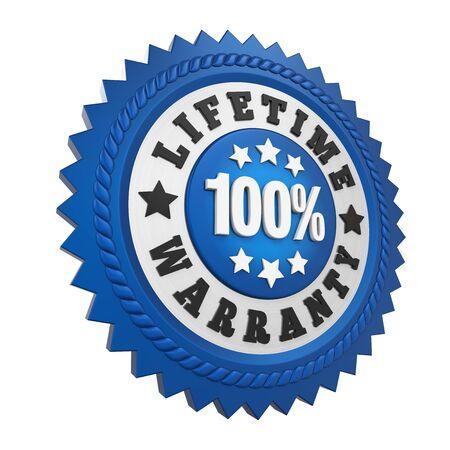 Lifetime Warranty Label Isolated