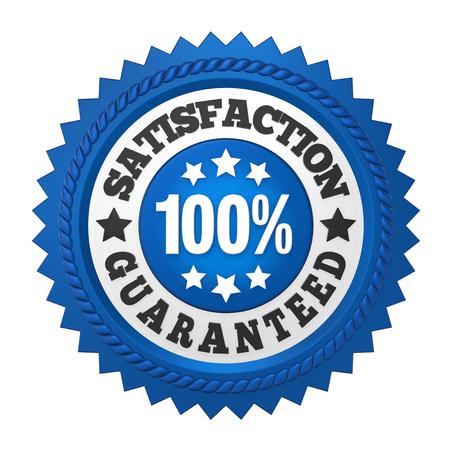 Satisfaction Guaranteed Label Isolated