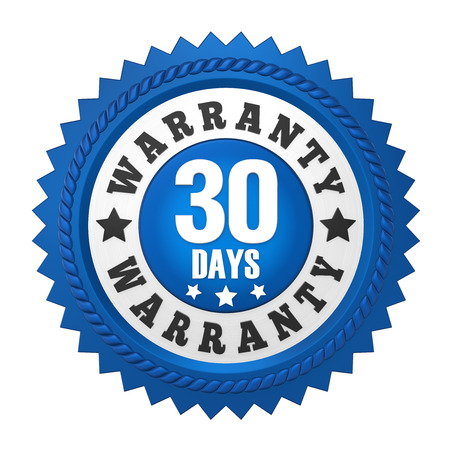 30 Days Warranty Badge Isolated
