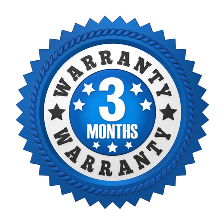 3 Months Warranty Badge Isolated