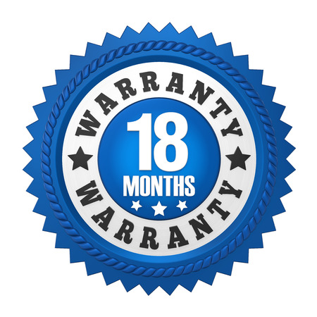 18 Months Warranty Badge Isolated