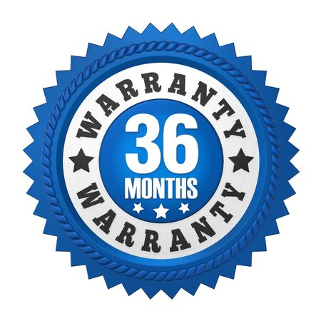 36 Months Warranty Badge Isolated