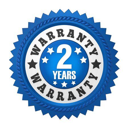 2 Years Warranty Badge Isolated
