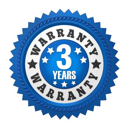 3 jaar garantie badge geïsoleerd Stockfoto - 82116042