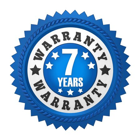 top 7: 7 Years Warranty Badge Isolated