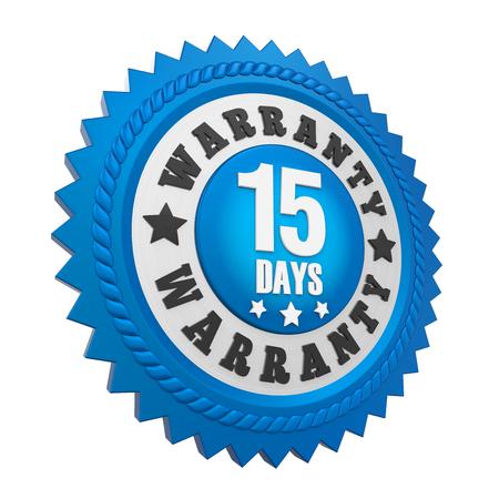 quality guarantee: 15 Days Warranty Badge Isolated