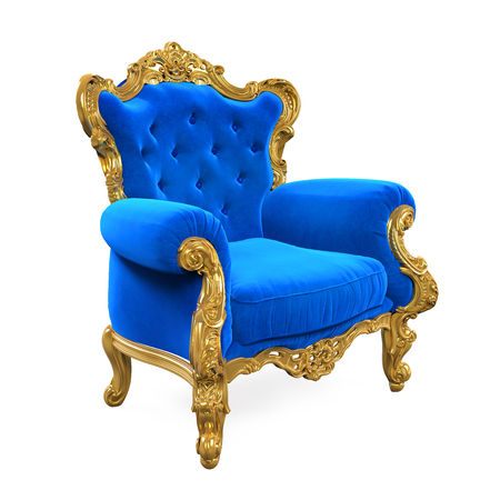 furniture design: Blue Throne Chair Isolated