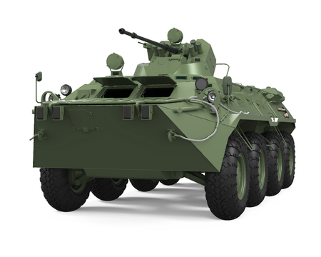heavy: Armoured Personnel Carrier Isolated Stock Photo