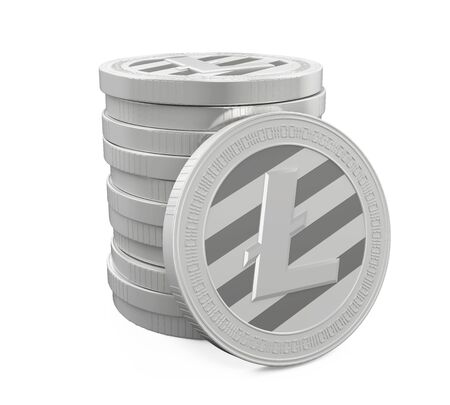 lite: Stack of Litecoins Isolated