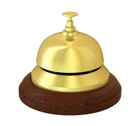 Reception Bell Isolated Stock Photo
