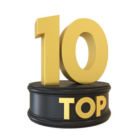 numero diez: Top 10 en el podio aislado