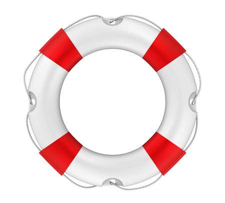 Lifebuoy Isolated Stock Photo
