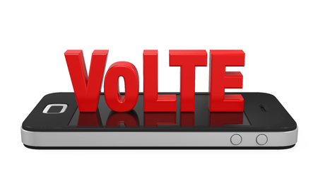 high speed internet: Voice over LTE Sign on Mobile Phone Isolated