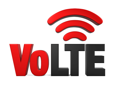Voice over LTE Sign Isolated