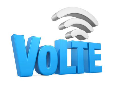 high speed internet: Voice over LTE Sign Isolated