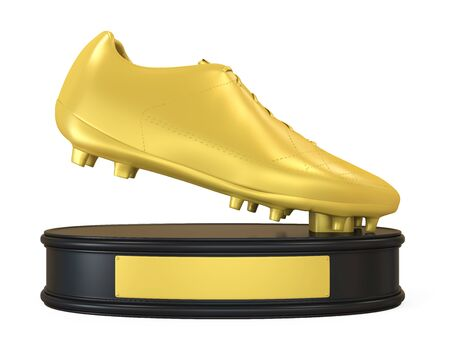 Golden Boot Trophy Isolated