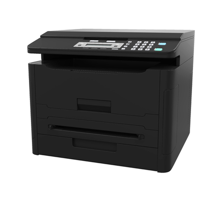 Laser Printer Isolated Stock Photo