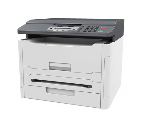 printout: Laser Printer Isolated Stock Photo