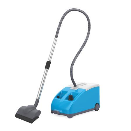 Blue Vacuum Cleaner Isolated