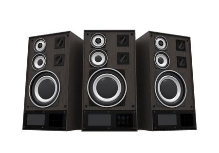 Grote audio-luidsprekers geïsoleerd Stockfoto