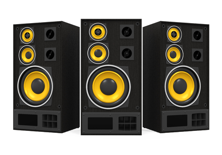 Large Audio Speakers Isolated
