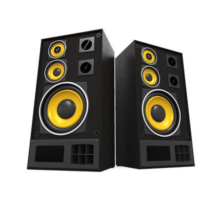heavy: Large Audio Speakers Isolated