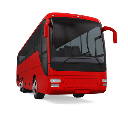 Coach Bus Isolated Stock Photo