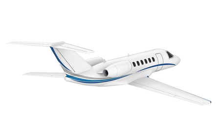 Private Jet Airplane Isolated