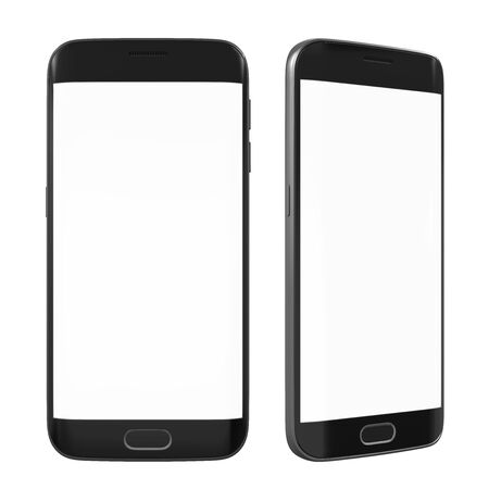 touch screen phone: Smart Phone with Blank Screen Isolated